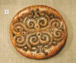 Декорированная крышка берестяного короба
